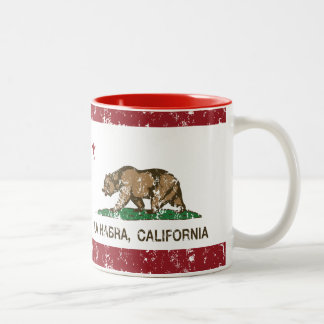 La Habra de la bandera del estado de California Tazas De Café