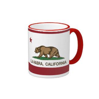 La Habra de la bandera del estado de California Taza De Dos Colores