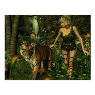 La hada y la postal del tigre