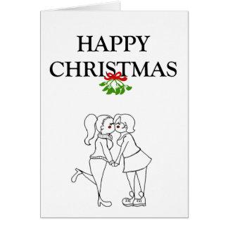 La hembra Partners la tarjeta de Navidad