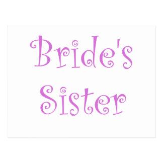 La hermana de la novia postal