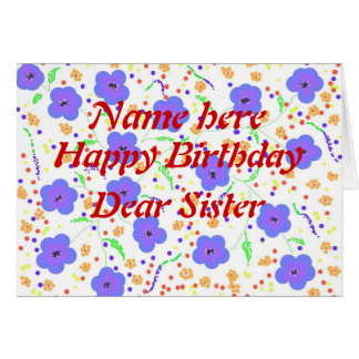 La hermana de la tarjeta del feliz cumpleaños añad