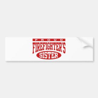 La hermana del bombero pegatina para coche