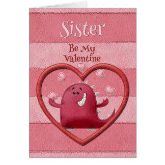 La hermana feliz del el día de San Valentín sea mi Tarjetas