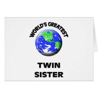 La hermana gemela más grande del mundo felicitacion