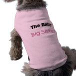 La hermana grande del bebé camisa de perro