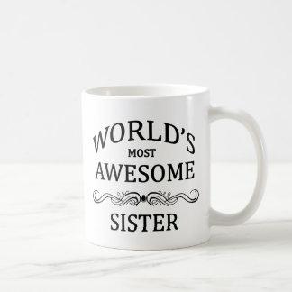 La hermana más impresionante del mundo taza básica blanca