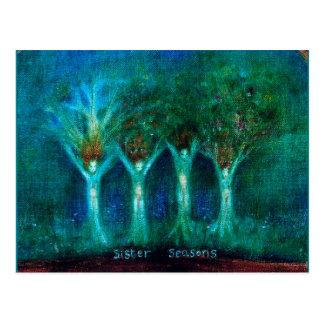 la hermana sazona cuatro árboles de la hermana postal