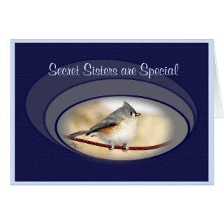 La hermana secreta de la tarjeta del Titmouse o