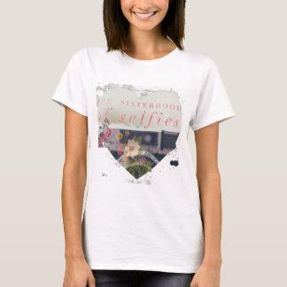 La hermandad del corazón floral de Selfie Camiseta