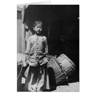 La hija del distribuidor autorizado de los pescado tarjetón