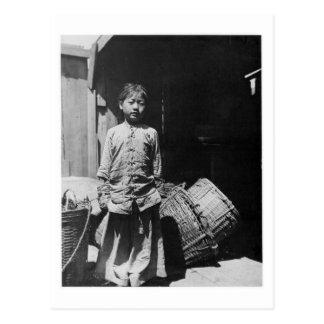 La hija del distribuidor autorizado de los pescado tarjetas postales