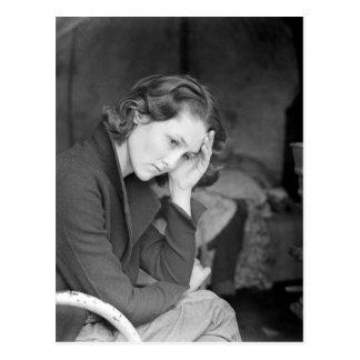 La hija del minero de carbón - 1936 postal