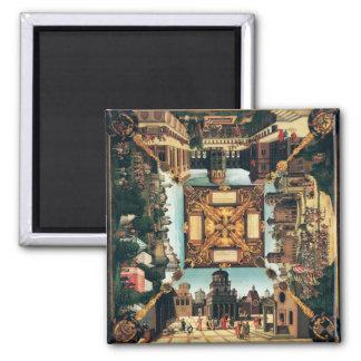 La historia de David, tablero de la mesa pintado,  Imán De Frigorífico