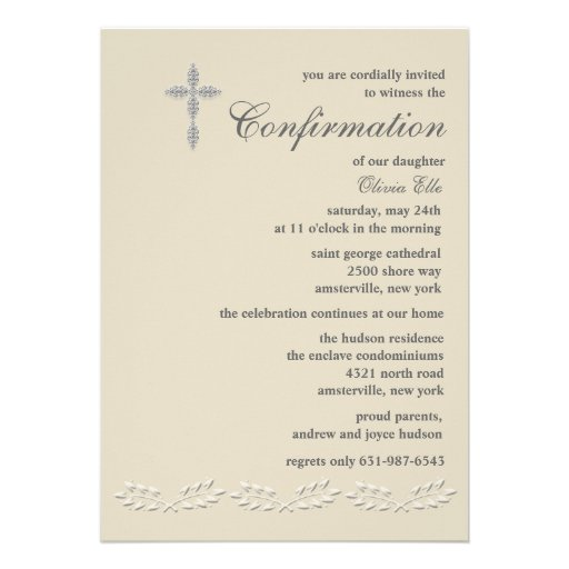 Invitaciones De Confirmacion