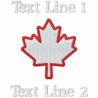 ¡La hoja de arce canadiense del bordado lo Camiseta Polo