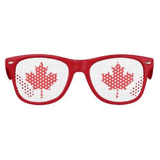 La hoja de arce, símbolo nacional de Canadá Gafas De Fiesta Retro