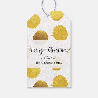 La hoja de oro puntea etiquetas del regalo etiquetas para regalos