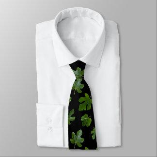 La hoja verde del modelo de la higuera corbatas