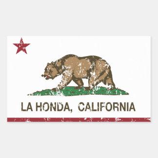 La Honda de la bandera de la república de Californ Rectangular Altavoz
