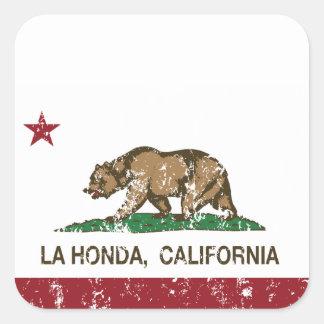 La Honda de la bandera de la república de Calcomanía Cuadradas Personalizadas
