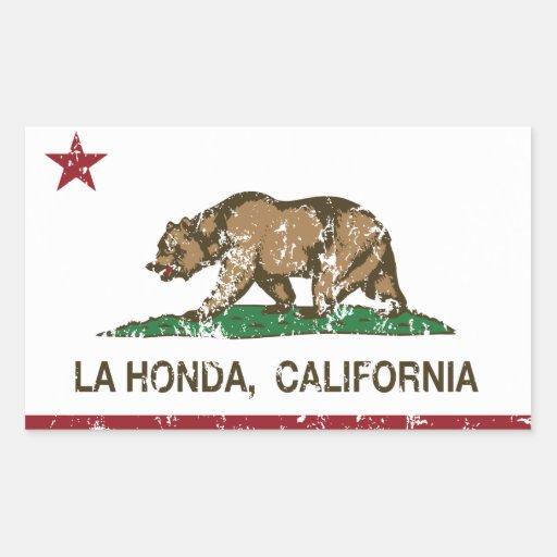 La Honda de la bandera de la república de Rectangular Pegatina