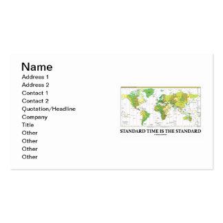La hora estándar es la estándar (el mapa de las tarjetas de visita
