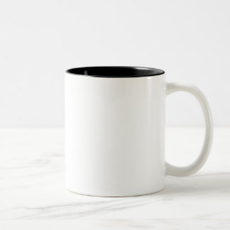 La huella dactilar de dios taza de café de dos colores