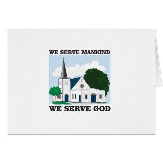 la humanidad del servicio sirve amor de dios tarjeta