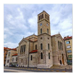 La iglesia de San José en Sarajevo. Bosnia y Herz Invitación 13,3 Cm X 13,3cm