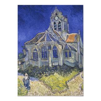 La iglesia en Auvers de Vincent van Gogh Invitación 11,4 X 15,8 Cm