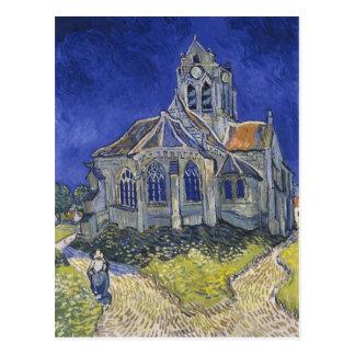 La iglesia en Auvers de Vincent van Gogh Postal