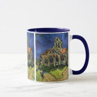 La iglesia en Auvers de Vincent van Gogh Taza
