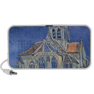 La iglesia en el Auvers-sur-Oise Mini Altavoces
