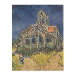 La iglesia en el Auvers-sur-Oise Impresión En Madera