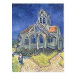 La iglesia en el Auvers-sur-Oise Tarjetas Postales