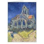 La iglesia en el Auvers-sur-Oise Tarjetón
