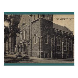 La iglesia evangélica de San Pablo león rojo Postal