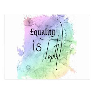 La igualdad es verdad postal