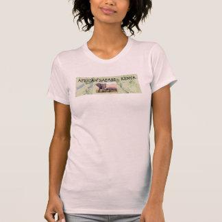La imagen de las señoras africanas del safari camisetas
