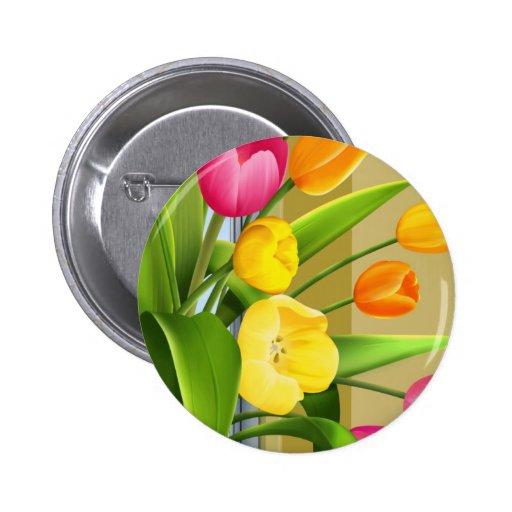 La imagen del vector de la primavera de la flor de pin
