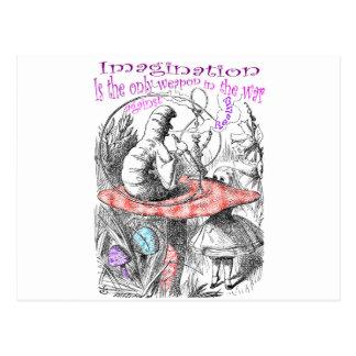 La imaginación es la única arma en la guerra… postal