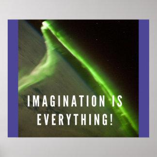 La imaginación es todo - poster de motivación