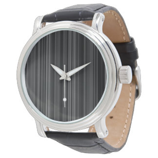 La impresión del modelo rayado raya gris gris reloj