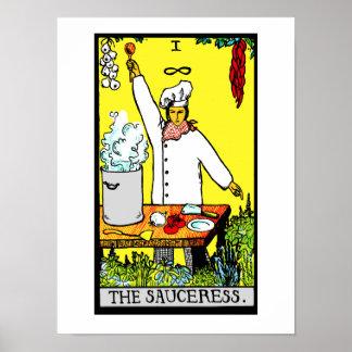 La impresión del poster de Sauceress