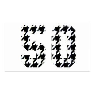 La impresión grande de 50 Houndstooth Tarjetas De Visita