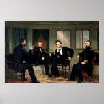 La impresión histórica de Abe Lincoln de los pacif Posters