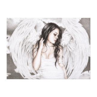 La impresión triste de la lona del ángel lienzo envuelto para galerías