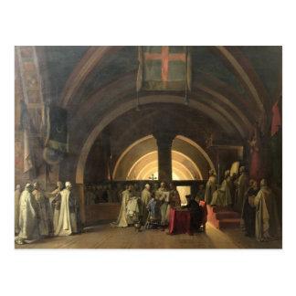 La inauguración de Jacques de Molay Postal