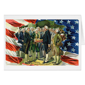 La inauguración de Washington del vintage como Tarjeta De Felicitación
